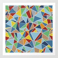 Abstraction Outline Art Print