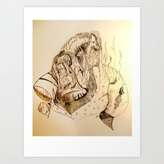 Flight of Dragons Omadon Art Print