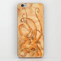 Octopus Drinking Tea iPhone & iPod Skin