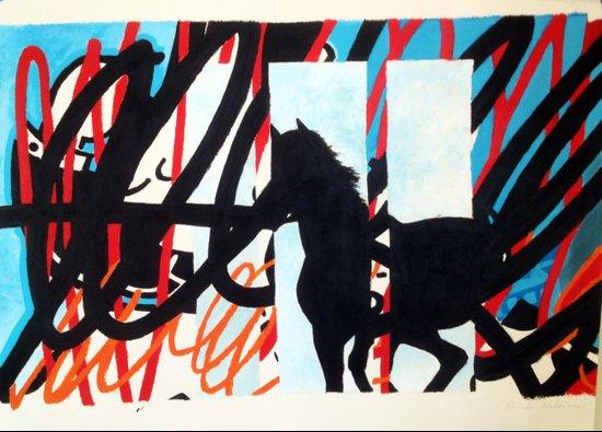 HORSE SCRIBBLE Art Print