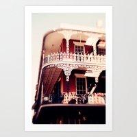 New Orleans Balcony - Fr… Art Print