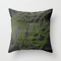 Killing Me / Green Throw Pillow