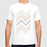 Mixed Zig Zag - in Mint Mens Fitted Tee White SMALL