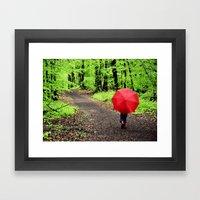 Rainy Woods Framed Art Print