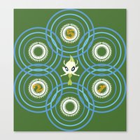 #251 Celebi ~ TIME Canvas Print