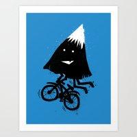 Mountain Biking Art Print