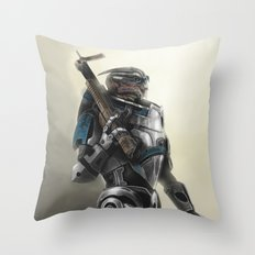 A busy Turian Throw Pillow