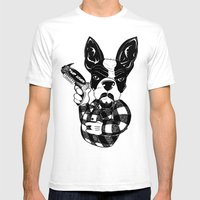 French Bulldog Gangster  Mens Fitted Tee White SMALL