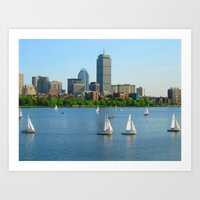 Boston in the Summer Art Print