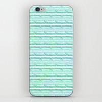 chevron blue&green iPhone & iPod Skin