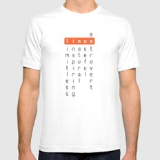 Linux - limitless, inspiring, natural, useful, extrovert - horizontal SMALL White Mens Fitted Tee