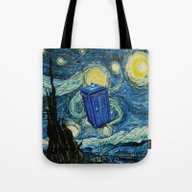 Tardis Dr. Who Starry Ni… Tote Bag