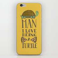 Being A Turtle iPhone & iPod Skin