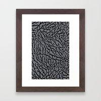 Cement Elephant Print Framed Art Print
