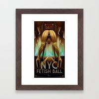 NYC_FETISH BALL Framed Art Print