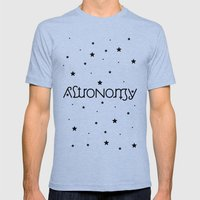 Astronomy Ambigram Mens Fitted Tee Tri-Blue SMALL
