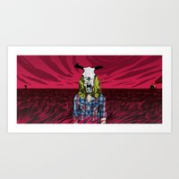 Cowgirl From Hell - Dark Art Print