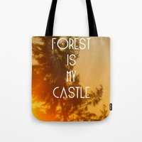 Tote Bag featuring The forest by AA Morgenstern