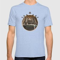 Robots Unite Mens Fitted Tee Tri-Blue SMALL
