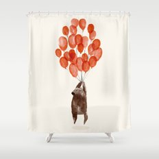 Almost Take Off Shower Curtain