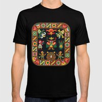 Inca Mens Fitted Tee Black SMALL