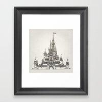 Castle Of Dreams S/w Framed Art Print