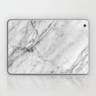 Laptop & iPad Skin featuring Carrara Marble by Patterns And Texture…