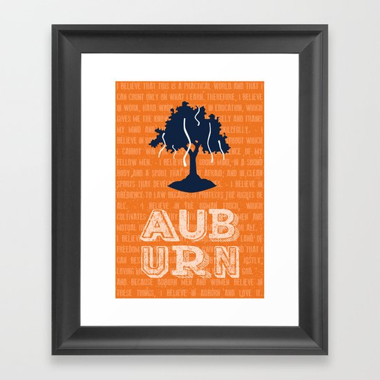Auburn Creed Framed Art Print By Sparetype Society6