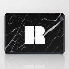 Black Marble - Alphabet R iPad Case