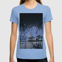 Firework Womens Fitted Tee Athletic Blue SMALL