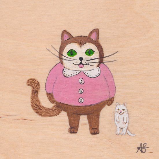Two Kitties Art Print