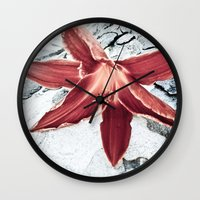 Lone Lilly Wall Clock