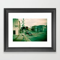 Railroads And State Line… Framed Art Print
