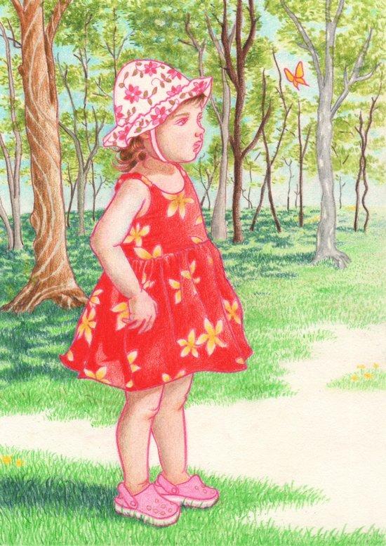 Little Miss Butterfly Art Print