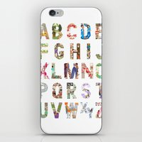 iPhone & iPod Skin featuring ABC of professions by Anastassia Elias