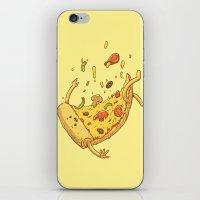 Pizza fall iPhone & iPod Skin