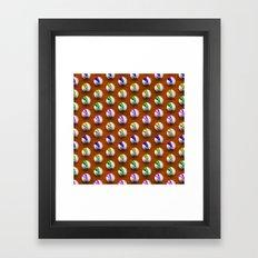 Marbles On Wood Pattern Framed Art Print