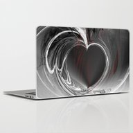 Heart Black Laptop & iPad Skin