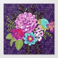 Bloomin' Beauties Violet Canvas Print