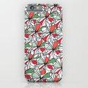 Xmas Floral Doodle iPhone & iPod Case