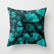 Fractal Art Turquoise G5… Throw Pillow