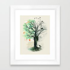 They Loved the Landscape to Death Framed Art Print