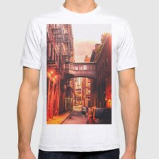 New York City Alley Mens Fitted Tee Ash Grey SMALL