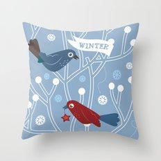 4 Seasons - Winter Throw Pillow