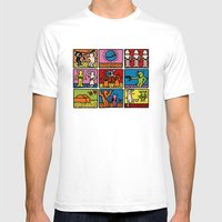Haring - étoiles W. Mens Fitted Tee White SMALL