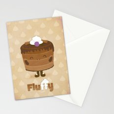Fluffy Chocolate Mousse Cake Stationery Cards