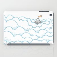 Peak above the clouds iPad Case