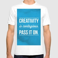 Creativity is contagious, Pass it on! White Mens Fitted Tee SMALL