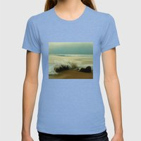 The Sea of Life Womens Fitted Tee Tri-Blue SMALL