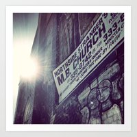 Abandoned Church in Chicago - Sunbeam Art Print